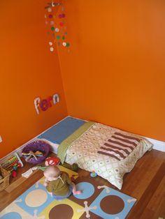 Montessori floor bed for baby room