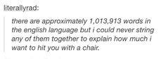 The beautiful inadequacy of the English language...