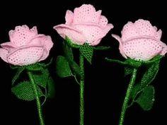 Розы из бисера 1 1 - YouTube