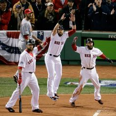 Cheering Papi Home. Red Sox.  World Series. 2013. Game 1.
