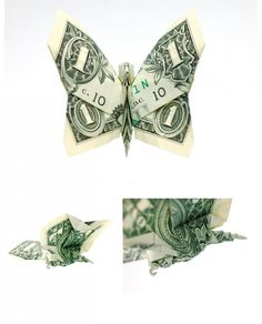 Won Park, has an unusual hobby: He folds origami treasures from one-dollar bills. When he was five years old, his mother took him to Japanese Paper shop, where he bought his first origami folding books. Today, he is an origami specialist. Origami Folding, Paper Folding, Origami Paper, Folding Money, Dollar Bill Origami, Money Origami, Money Lei, Dollar Bills, Origami Instructions