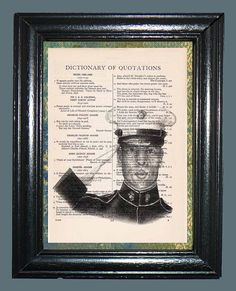 US Marine  Vintage Dictionary Book Page Art by CocoPuffsArt, $9.99