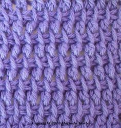 Tunisian Crochet Swatch Project - several new stitches I didn't know about.