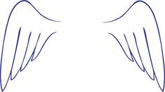 angel wings drawing easy - Google Search