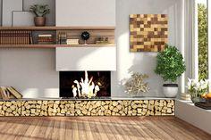 Kaminholz-Board - New Ideas Room Decor Bedroom, Diy Room Decor, Living Room Decor, Home Decor, Interior Design Kitchen, Kitchen Decor, Bed Cover Design, Living Room Tv Unit Designs, Appartement Design