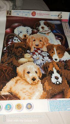 Diamond painting of dogs Teddy Bear, Diamond, Toys, Artwork, Painting, Animals, Activity Toys, Work Of Art, Animaux