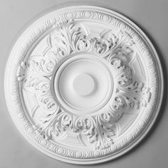 """19 1/4"""" Acanthus Leaf Egg Border Ceiling Medallion The medallion should be two thirds the size of the chandelier."""