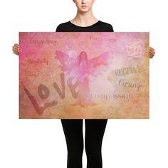 Spiritual Coach, Coaching, Spirituality, Angel, Love, Canvas, Poster, In Love, Training