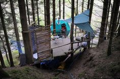 Tis UK's first tree tent is an exciting place to stay for those young at heart seeking a stylish glamping experience with peace and quiet in their own private Welsh woodland setting.