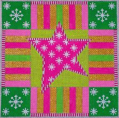 EyeCandy Needleart: Canvas of the Week: Holiday Star