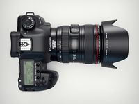3d Canon 5d MKII camera top view