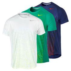Men`s Advantage UV Graphic Tennis Crew in great colors! #nike #tennis #men's nike