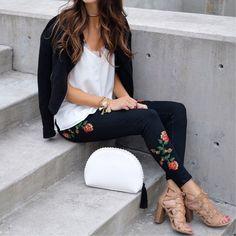 sweet + edgy rose style