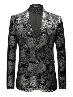 ef3dfe1668 Ericdress Floral Print Mens Color Block Slim Jacket Blazer 13212298 -  Ericdress.com Ανδρική Μόδα