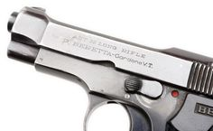 Beretta M1934 pistol    Manufactured by Fabbrica d'Armi Pietro Beretta in Brescia, Italy - serial number OC540.  .22 Long Rifle, removable box magazine, blowback semi-automatic.