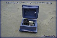 music box wooden music box custom made music by Simplycoolgifts, $64.00 Wooden Music Box, Wooden Boxes, Up Music, Custom Boxes, Music Boxes, Songs, Key, Color, Wood Boxes