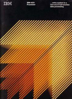 Vintage Graphic Design IBM: 4331 Processor - IBM manual courtesy of Jaime. Poster Design, Graphic Design Posters, Graphic Design Typography, Graphic Design Inspiration, Print Design, Circle Graphic Design, Gfx Design, Retro Design, Design Graphique