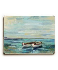 Loving this Boats at the Beach Wall Art on #zulily! #zulilyfinds