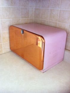 Vintage Copper and Pink Breadbox Beauty Box By by ArtDecoDame (obviously a color less ridiculous)