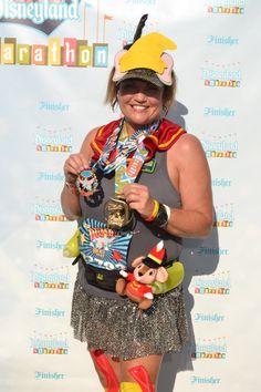 RunDisney Dumbo Double Dare finisher. Running costume. Photo and costume by Lori Soto.