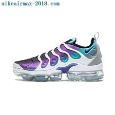 9fd8f63b8a Men's Nike Air VaporMax Plus TN White Fierce Purple Aurora Green Black Boys  Running Shoes