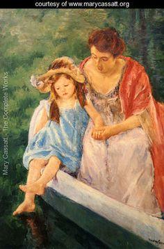 Mother And Child In A Boat - Mary Cassatt - www.marycassatt.org