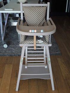 Relooking d'une chaise haute combelle
