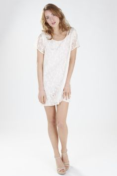 The short and cute Minna Mindy dress, a one of kind piece made with Scottish lace.