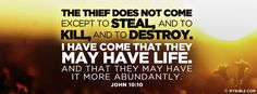 The thief does not except to steal, and to... - Facebook Cover Photo
