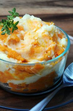 sweet and white mashed potatoe swirl@ Salad in a Jar, sounds great and looks beautiful.  Thanks Salad Lady!