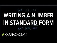 Writing a number in standard form | Place value | Arithmetic properties | Pre-algebra | Khan Academy
