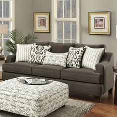 Sofa and Loveseat in Odin Pewter with 3 Tables