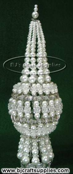 beaded church by bj craftsupplies | click to enlarge pearl crystal beaded safety pin tree top