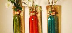 Ideias criativas para usar garrafas de vidro no artesanato