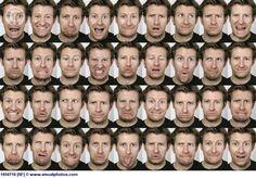 man facial expressions sheet