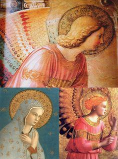 Beautiful Fra Angelico, School Painting, Angel Art, Renaissance Art, Religious Art, Art And Architecture, Christianity, Art Nouveau, Images