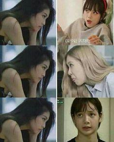 Blackpink Funny, Memes Funny Faces, Funny Kpop Memes, Kpop Girl Groups, Korean Girl Groups, Kpop Girls, Black Pink Songs, Black Pink Kpop, Blackpink Photos