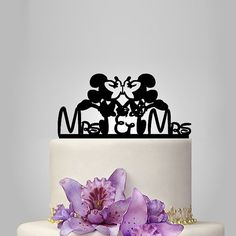 Minnie and Minnie mouse Wedding cake topper mrs and by walldecal76
