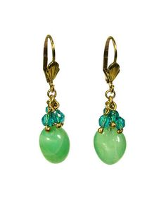 Look what I found on #zulily! Teal Agate Cluster Earrings by WorldFinds #zulilyfinds