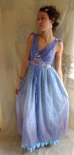 RESERVED Lupin Faery Gown Size Medium Fairy Pixie by jadadreaming, $210.00