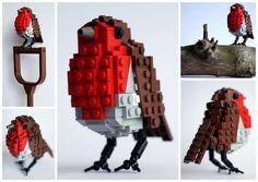 LEGO Birds by DeTomaso Pantera are Anatomically Accurate via @trendhunter