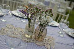 Centros de mesa vintage