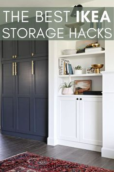 Finally some IKEA storage hacks that actually look good. With a little bit of DI… Finally some IKEA storage hacks that actually look good. With a little bit of DIY love these Modern designs from IKEA are great for any home. Ikea Storage, Storage Hacks, Storage Ideas, Home Decor Hacks, Diy Home Decor, Decorating Hacks, Room Decor, Furniture Makeover, Diy Furniture