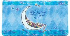 Flavia Moon Blue Checkbook Cover