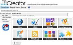 Social Creator: crea gratis, y sin programar, webapps para móviles y PCs