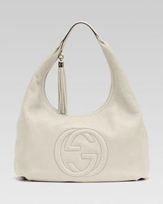 a9bd7a815d99 Soho Leather Hobo, White by Gucci at Bergdorf Goodman. #Guccihandbags  #guccisoholeatherbag Gucci