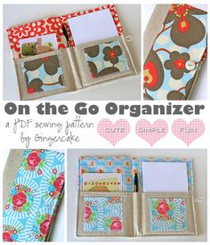 On The Go Organizer PDF Sewing Pattern