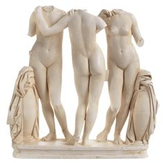 The Three Graces - Sculpture The Met Created in the second century A.D., the Museum's marble The Three Graces is a Roman copy of a Greek statue group from the second century B.C. These three young girls, linked in a dance-like pose, represent Aglaia (Beauty), Euphrosyne (Mirth), and Thalia (Abundance).