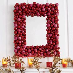 Decorate with easy Christmas crafts | Transform a mirror into a masterpiece | AllYou.com   I love a good glue gun!!