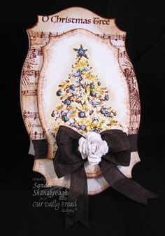 """Our Daily Bread Designs October Release set """"O Christmas Tree"""" and """"O Christmas Tree Carol"""" card by  Sandee Shanabrough."""